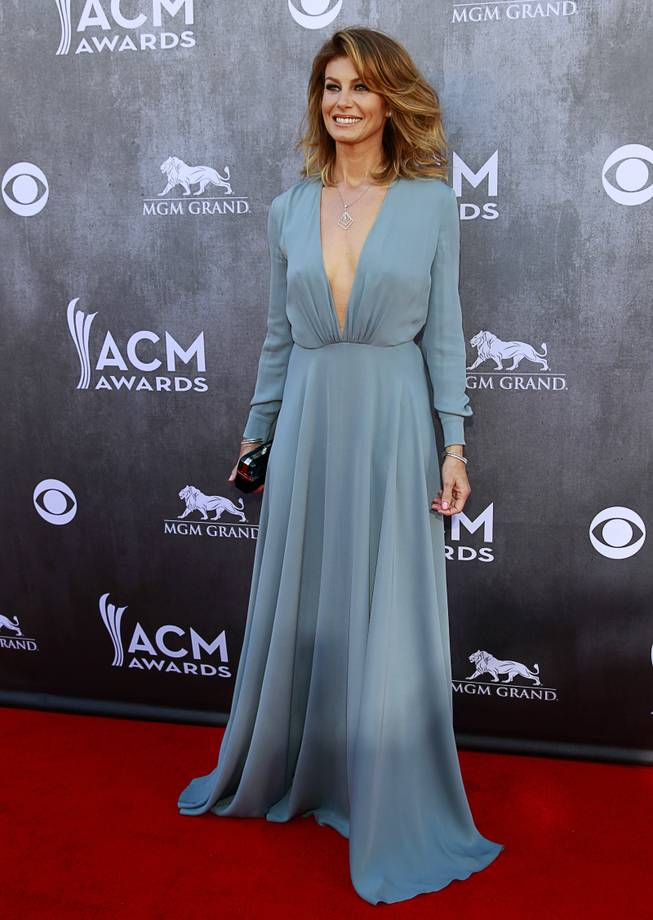 Faith Hill arrives for the 49th Academy of Country Music Awards show at the MGM Grand Garden Arena Sunday, April 6, 2014.