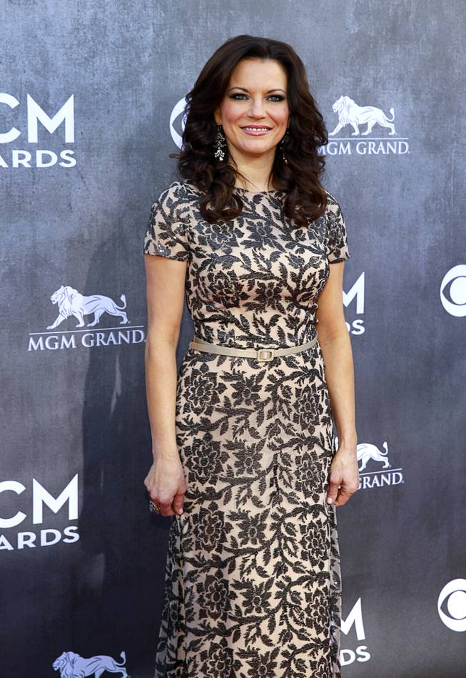 Martina McBride arrives for the 49th Academy of Country Music Awards show at the MGM Grand Garden Arena Sunday, April 6, 2014.