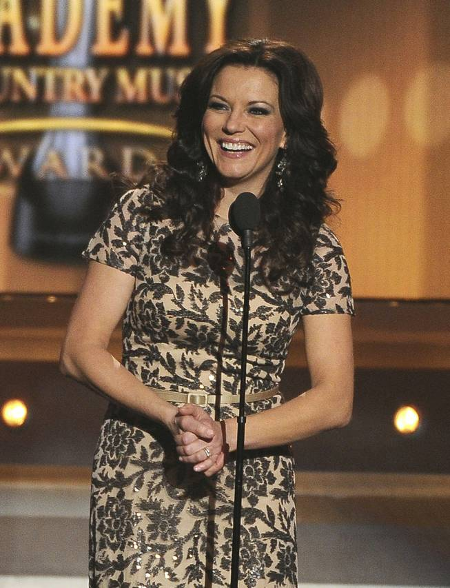Martina McBride speaks onstage at the 49th Annual Academy of Country Music Awards at MGM Grand Garden Arena on Sunday, April 6, 2014, in Las Vegas.