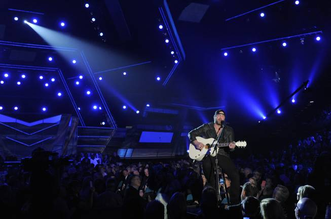 Lee Brice performs onstage at the 49th Annual Academy of Country Music Awards at MGM Grand Garden Arena on Sunday, April 6, 2014, in Las Vegas.