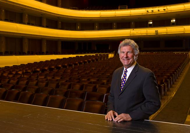 Paul Beard, vice president and COO of the Smith Center for the Performing Arts, poses in Reynolds Hall at the center Monday, April 7, 2014.
