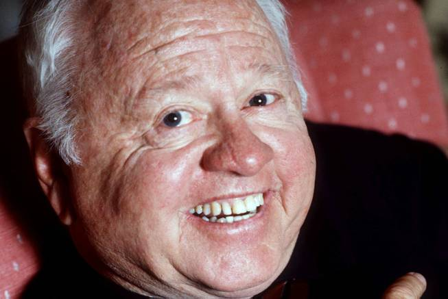 Entertainment legend Mickey Rooney is shown in this May 1987 file photo. The Associated Press reported, Monday, April 7, 2014, that Rooney has died at age 93.