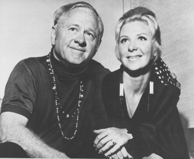 Actor Mickey Rooney and his wife Caroline Hockett pose together shortly after their marriage, on May 28, 1969, in Las Vegas, Nevada.