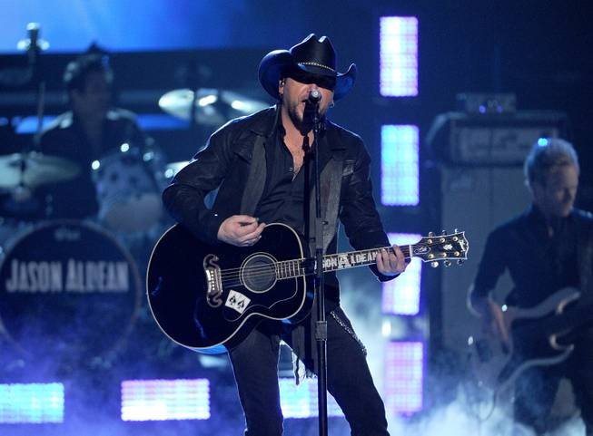 Jason Aldean performs at the 49th Annual Academy of Country Music Awards at MGM Grand Garden Arena on Sunday, April 6, 2014, in Las Vegas.