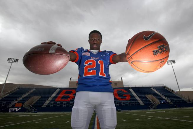 Johnathan Loyd, who played basketball and football at Bishop Gorman High School in Las Vegas, is shown in this 2009 file photo.