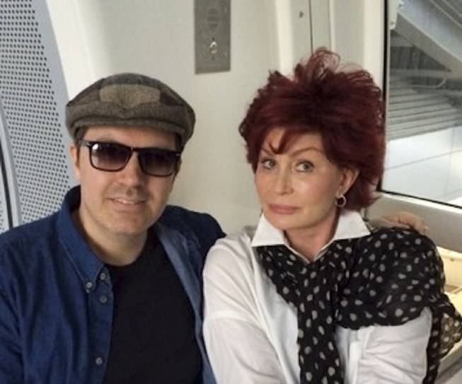 Pasquale Rotella and Sharon Osbourne took a ride on the High Roller at the Linq on Saturday afternoon April 5, 2014.