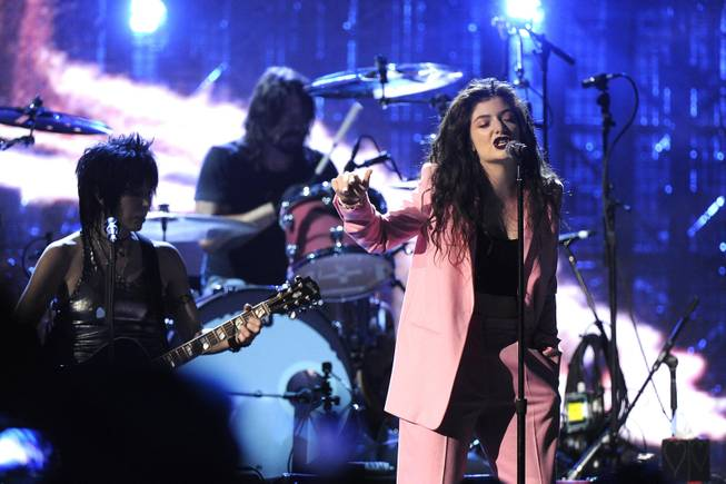Lorde performs at the 2014 Rock and Roll Hall of Fame Induction Ceremony on Thursday, April, 10, 2014 in New York.