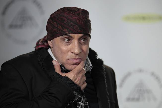 Hall of Fame inductee Steven Van Zandt appears in the press room at the 2014 Rock and Roll Hall of Fame Induction Ceremony on Thursday, April, 10, 2014 in New York. (Photo by Andy Kropa/Invision/AP)