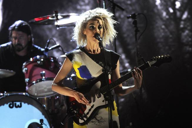 St. Vincent performs at the 2014 Rock and Roll Hall of Fame Induction Ceremony on Thursday, April, 10, 2014 in New York.