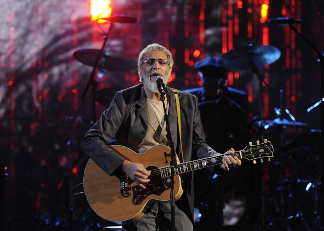 Hall of Fame inductee Cat Stevens performs at the 2014 Rock and Roll Hall of Fame Induction Ceremony on Thursday, April 10, 2014, in New York.