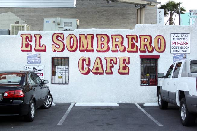 The open sign is off at El Sombrero restaurant located on Main Street, which has been open since 1950, during its last day of operation Saturday, April 12, 2014.