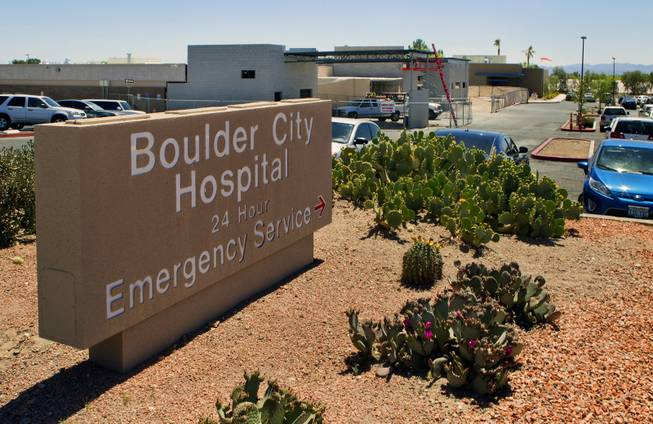 Construction continues on the new emergency room entrance at Boulder City Hospital on Monday, April 14, 2014. The hospital is banking on an expansion and renovation to help solve its financial troubles.