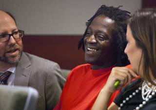 William Jonathan Drayton, Jr., aka Flavor Flav, appears before Judge Kathy Hardcastle at the Regional Justice Center on Monday, April 14, 2014.