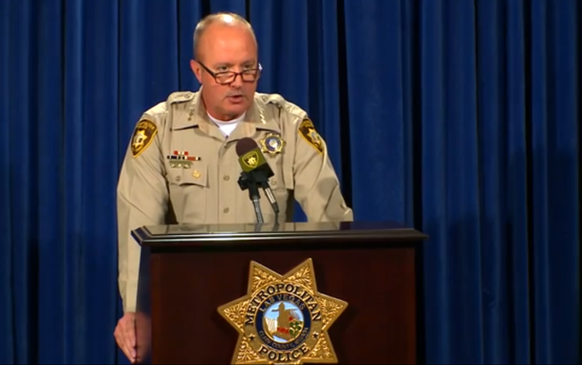 Undersheriff Jim Dixon, shown in a screen shot of a Metro video, conducts a media briefing, providing details of the April 8, 2014, officer-involved shooting that left a man dead.