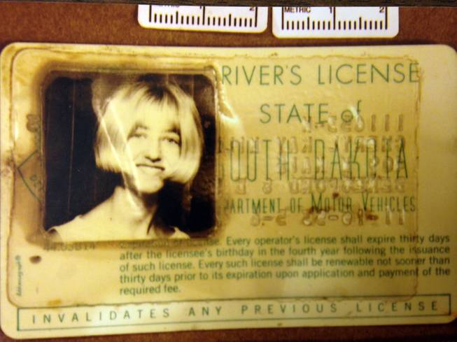 In this undated photo provided by the South Dakota Attorney General's Office, Cheryl Miller's driver's license is seen.