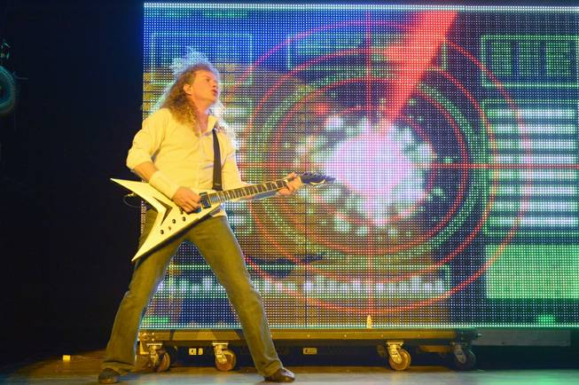 Megadeth, with frontman and guitarist Dave Mustaine, performs at Pearl ...