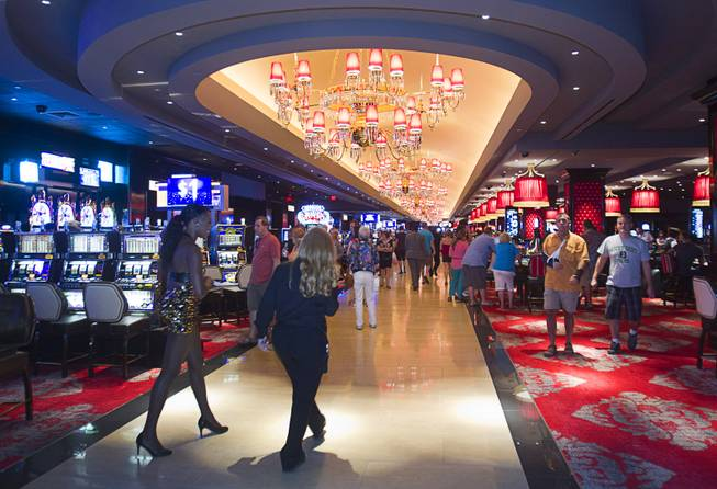 A view of the casino floor at the Cromwell, formerly Bill's Gamblin' Hall & Saloon, during a soft opening Monday, April 21, 2014. The casino is undergoing a $185 million renovation project that includes remodeling of guest rooms, casino floor and common areas, the addition of a new second floor restaurant, and construction of the 65,000 square foot rooftop pool and dayclub/nightclub.
