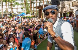Aloe Blacc performs at Rehab on Saturday, April 19, 2014, in Hard Rock Hotel Las Vegas.