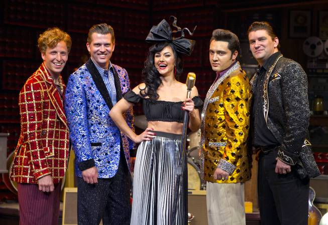 "Melody Sweets joins the cast onstage as a guest star in ""Million Dollar Quartet"" on Tuesday, April 22, 2014, at Harrah's."