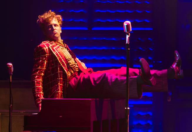 "Martin Kaye portrays Jerry Lee Lewis in ""Million Dollar Quartet"" on Tuesday, April 22, 2014, at Harrah's."