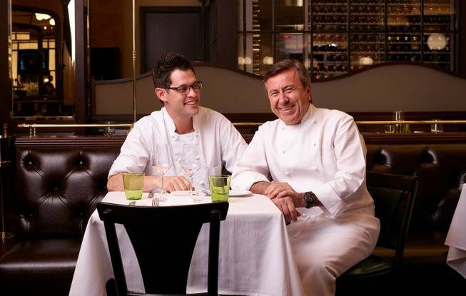 Chefs David Middleton and Daniel Boulud are opening DB Brasserie on Thursday, April 24, 2014, at the Venetian in Las Vegas.