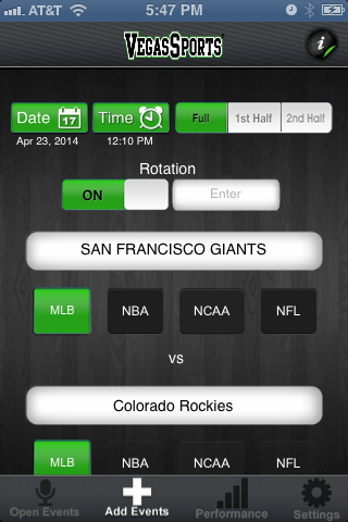 The Vegas Sports app keeps track of the bets users place and provides other free tracking services.