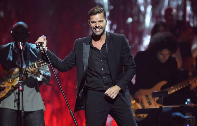 "Recording artist Ricky Martin performs onstage during the 18th annual Keep Memory Alive ""Power of Love Gala"" benefit for the Cleveland Clinic Lou Ruvo Center for Brain Health honoring Gloria Estefan and Emilio Estefan Jr. on Saturday, April 26, 2014, at MGM Grand Garden Arena."