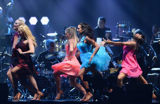 "Dancers perform onstage during the 18th annual Keep Memory Alive ""Power of Love Gala"" benefit for the Cleveland Clinic Lou Ruvo Center for Brain Health honoring Gloria Estefan and Emilio Estefan Jr. on Saturday, April 26, 2014, at MGM Grand Garden Arena."