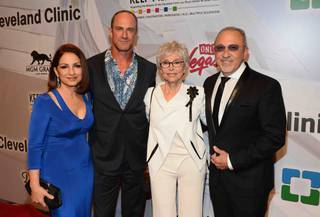 "Honoree Gloria Estefan, Christopher Meloni, Rita Moreno and honoree Emilio Estefan Jr. attend the 18th annual Keep Memory Alive ""Power of Love Gala"" benefit for the Cleveland Clinic Lou Ruvo Center for Brain Health on Saturday, April 26, 2014, at MGM Grand Garden Arena."