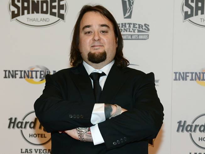 "Austin ""Chumlee"" Russell arrives at the 2013 Fighters Only World Mixed Martial Arts Awards at The Joint in the Hard Rock Hotel on Friday, Jan. 11, 2013."
