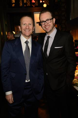 Hakkasan Group CEO Neil Moffitt and Hakksan Group President Nick McCabe attend Night 1 of Hakkasan's first-anniversary celebrations Thursday, April 24, 2014, at MGM Grand.