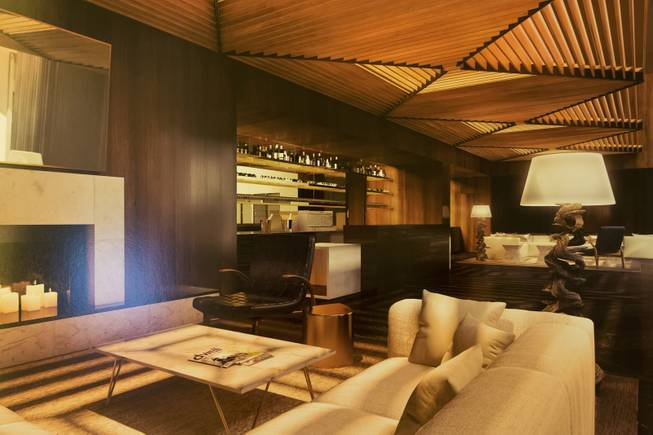 A rendering of the interior spaces at Delano Las Vegas, Wednesday, April 30, 2014. Delano Las Vegas, a South Beach-style hotel experience, will have its grand opening in September.