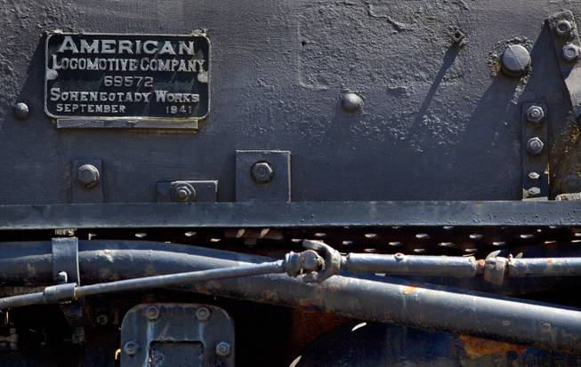 The Big Boy No. 4014 steam locomotive was delivered to the Union Pacific Railroad in 1941 and is now en route for restoration to the Union Pacific Heritage Steam Fleet Operations in Cheyenne, Wyoming, on Wednesday, April 30, 2014.