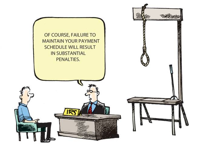 "The winner of the April Smithereens Cartoon Caption Contest is: ""Of course, failure to maintain your payment schedule will result in substantial penalties."" Submitted on Facebook by Anthony Dee Varrone, the winning entry received 37 percent of the votes."