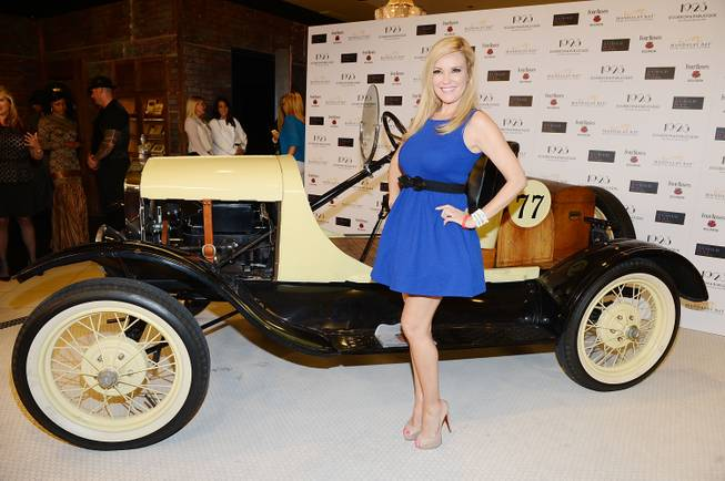 Bridget Marquardt arrives at the grand opening of 1923 Bourbon & Burlesque by Holly Madison at Mandalay Bay on Thursday, May 1, 2014, in Las Vegas.
