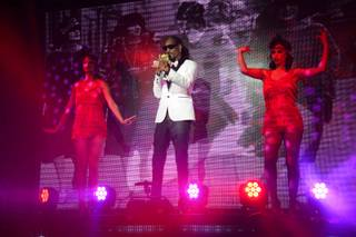 Snoop Dogg debuts his Snoopadelic Cabaret at Tao on Saturday, May 3, 2014, in the Venetian.