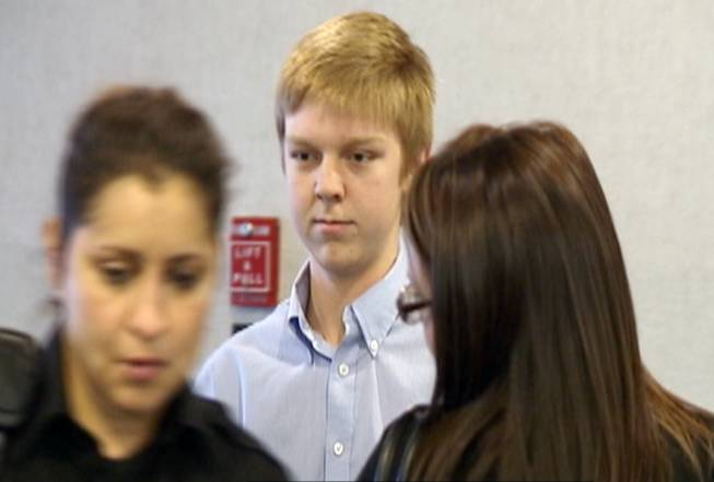 In this December 2013 image taken from a video by KDFW-FOX 4, Ethan Couch is seen during his court hearing in Fort Worth, Texas.