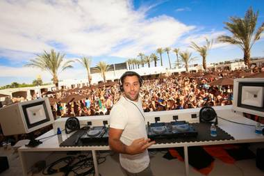 Sebastian Ingrosso at Daylight Beach Club in Mandalay Bay.