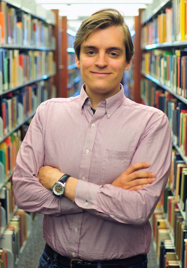 UNLV senior Bradley Davey is the 12th student at UNLV to win a Fulbright Scholarship. Davey, 26, plans to teach English and American culture in Germany next year.