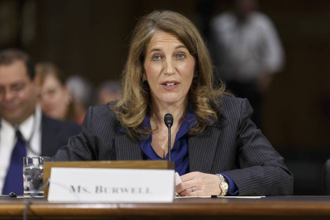 Sylvia Mathews Burwell, President Barack Obama's nominee to become secretary of Health and Human Services, appears before the Senate Health, Education, Labor and Pensions Committee for her confirmation hearing, on Capitol Hill in Washington, Thursday, May 8, 2014.