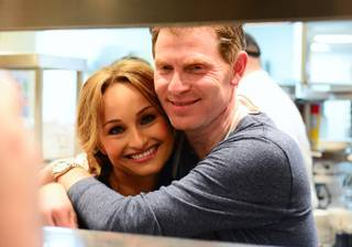 Giada De Laurentiis and Bobby Flay co-host a Master Series dinner at his Mesa Grill on Thursday, May 8, 2014, in Caesars Palace.