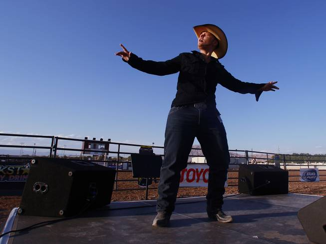 Preston performs a lip sync during the Bighorn Rodeo Saturday, May 10, 2014. The Bighorn Rodeo is an annual event put on by the Nevada Gay Rodeo Association.