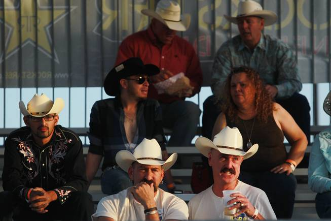 Spectators watch the competition during the Bighorn Rodeo Saturday, May 10, 2014. The Bighorn Rodeo is an annual event put on by the Nevada Gay Rodeo Association.