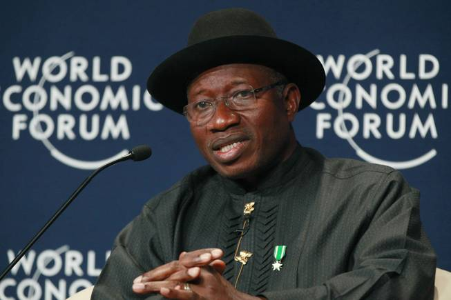 Nigeria President Goodluck Jonathan speaks during the World Economic Forum on Africa in Abuja, Nigeria in May. The president of Nigeria for weeks refused international help to search for more than 300 girls abducted from a school by Islamic extremists, one in a series of missteps that have led to growing international outrage against the government.