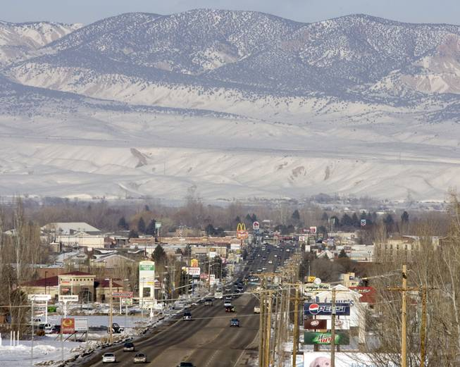 In this Feb. 10, 2011 file photo, downtown Vernal, Utah is shown. State health officials are pledging to look into claims that stillbirths are on the rise in the Eastern Utah community of Vernal, that is home to a boom in gas and oil development. Activists say a climbing rate of neonatal deaths in the Uinta Basin stems from industrial smog. But researchers and health officials aren't ready to draw such a link.