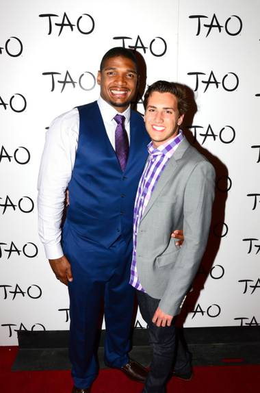 Michael Sam and Vito Cammisano at Tao on Saturday, May 10, 2014, in the Venetian.