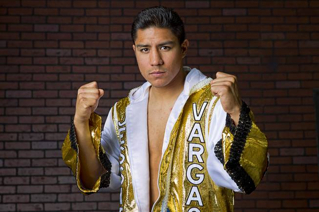 Jessie Vargas of Las Vegas before a workout at Top Rank Gym on Monday, May 12, 2014. Vargas defeated Khabib Allakhverdiev of Russia at MGM Grand Garden Arena on April 12 to take the WBA super lightweight (140 pounds) title. Allakhverdiev was previously undefeated.