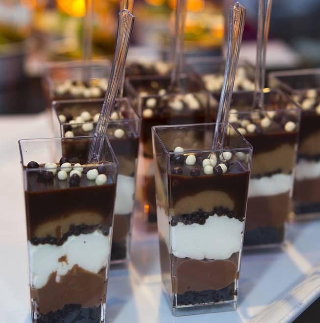 Triple Chocolate Trifle is one of many desserts to be sampled at the Grand Tasting during the Uncork'd annual event at Caesars Garden of the Gods Pool on Friday, May 9, 2014.
