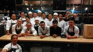 Chef Akira Back opens his new restaurant in Jakarta, Indonesia.