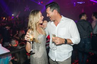 LeAnn Rimes and Eddie Cibrian party at Hakkasan on Saturday, May 10, 2014, in MGM Grand.